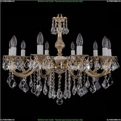 1702/10/250/B/GW/Leafs Хрустальная подвесная люстра Bohemia Ivele Crystal