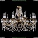 1702/10/C/GB/Leafs Хрустальная подвесная люстра Bohemia Ivele Crystal (Богемия)