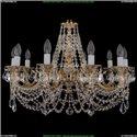1702/10/C/GW/Leafs Хрустальная подвесная люстра Bohemia Ivele Crystal (Богемия)