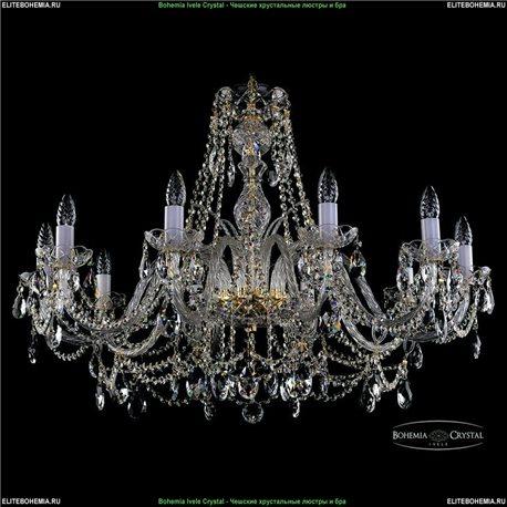 1411.10.360.66 Bohemia Ivele Crystal, Чешская Подвесная люстра с хрустальным рожком