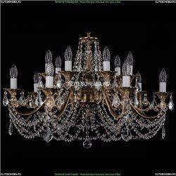 1703/14/320/C/FP/Leafs Хрустальная подвесная люстра Bohemia Ivele Crystal