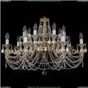 1703/14/C/GW/Leafs Хрустальная подвесная люстра Bohemia Ivele Crystal (Богемия)