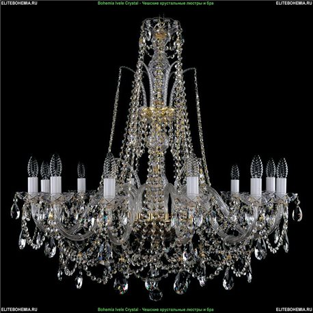 1411.12.300.87 Bohemia Ivele Crystal, Чешская Подвесная люстра с хрустальным рожком
