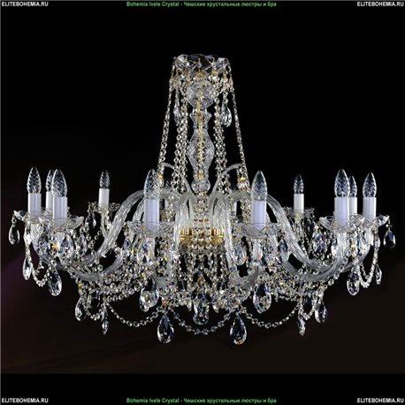 1411.12.360.72 Bohemia Ivele Crystal, Чешская Подвесная люстра с хрустальным рожком
