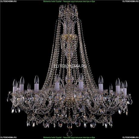 1411/16/400-115/G Bohemia Ivele Crystal, Чешская Подвесная люстра с хрустальным рожком