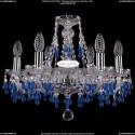 1410/6/160/Ni/V3001 Хрустальная подвесная люстра Bohemia Ivele Crystal