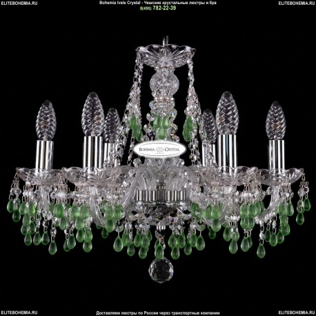 1410/6/160/Ni/V5001 Хрустальная подвесная люстра Bohemia Ivele Crystal