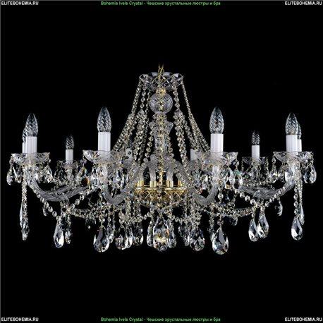 1413.10.360 Bohemia Ivele Crystal, Чешская Подвесная люстра с хрустальным рожком