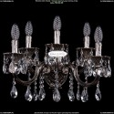 1702B/5/175+250/A/NB Хрустальное бра Bohemia Ivele Crystal