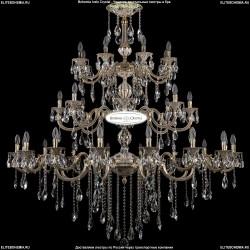 1702/16+8+8/335+265/B/GW Хрустальная подвесная люстра Bohemia Ivele Crystal