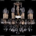 1702/10/CK125IV/A/FP Хрустальная подвесная люстра Bohemia Ivele Crystal
