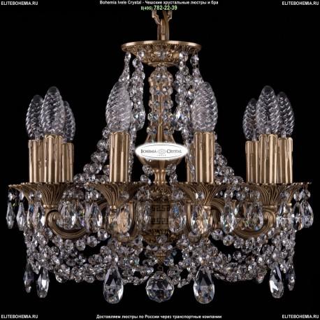 1702/10/CK125IV/C/FP Хрустальная подвесная люстра Bohemia Ivele Crystal