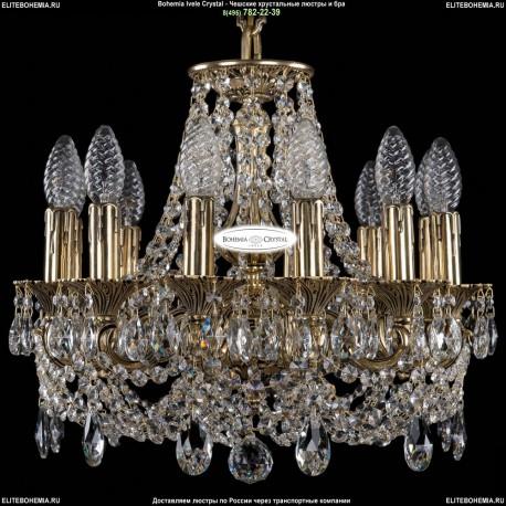 1702/12/CK125IV/C/GB Хрустальная подвесная люстра Bohemia Ivele Crystal