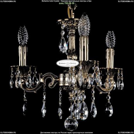 1702/3/CK125IV/A/GB Хрустальная подвесная люстра Bohemia Ivele Crystal